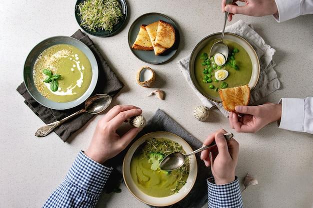 グリーン野菜スープ
