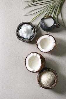 さまざまなココナッツ製品