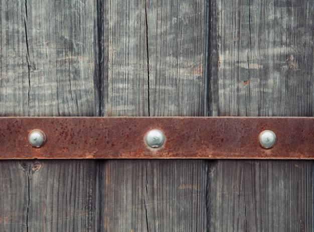 古代の木製のドアの背景。