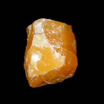 Сырой желтый кальцит