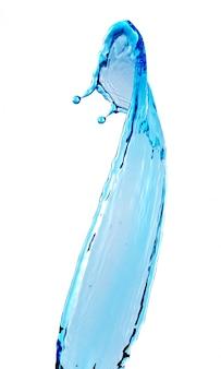 Голубая вода всплеск
