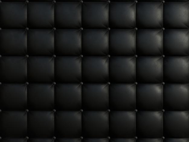 黒い色のソファの質感。