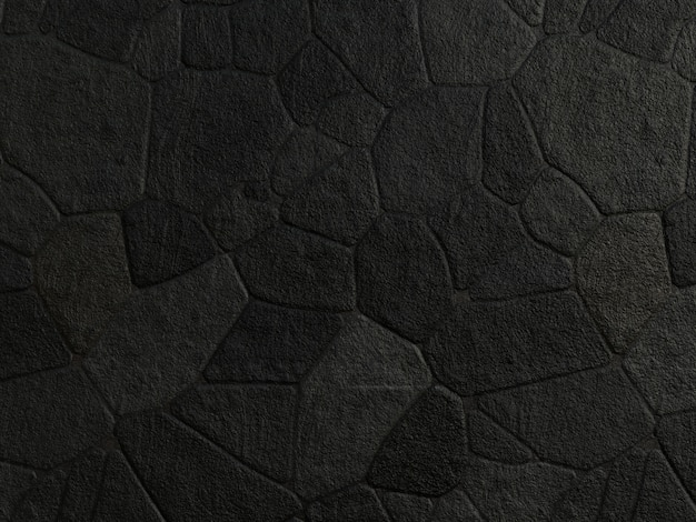 黒い石造りの壁テクスチャ背景。
