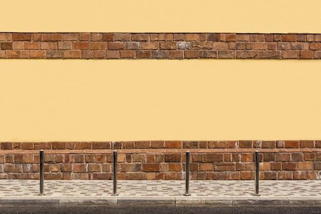 家の黄色い壁、