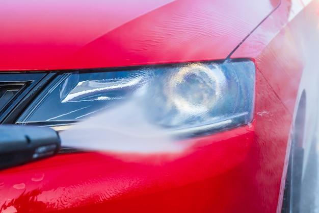 洗車と研磨ヘッドライト、クリーンカーケア