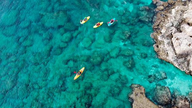 Вид беспилотника на острове кипр айя-напа