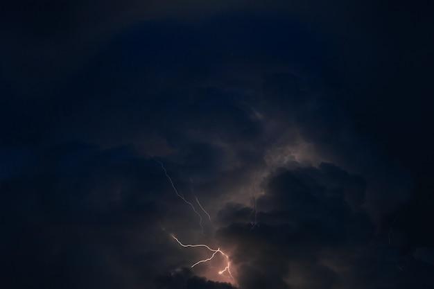 このパノラマ画像は嵐の間に撮影されました