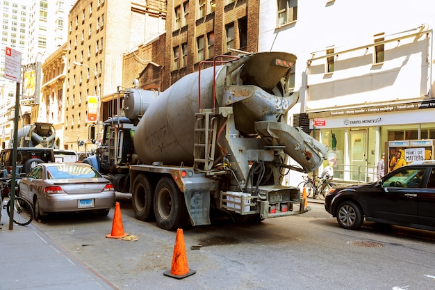 マンハッタンの道路工事と道路工事