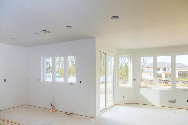 マンションの改装工事中の新しい家