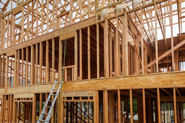外観の建設の新しい住宅。