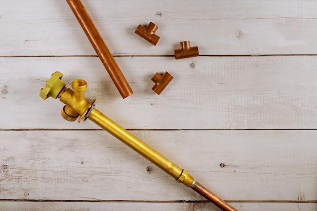 アンチサイフォンボールホースビブスバルブフロストと銅パイプ配管付属品