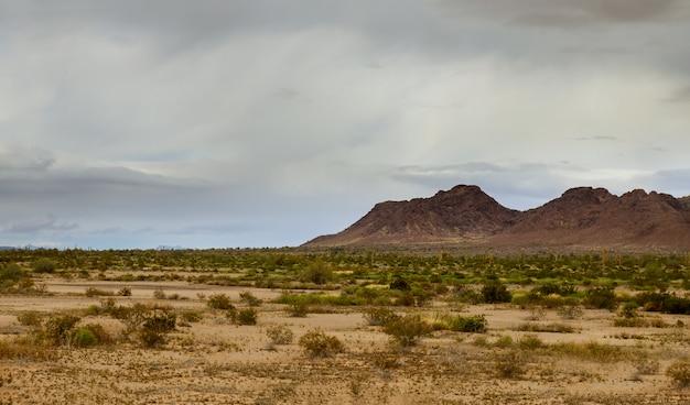 ニューメキシコの風景米国南西部の砂漠の山々の雲
