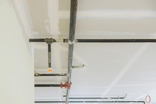 天井に取り付けられた安全戦闘機器スプリンクラーの天井取り付け自動ヘッド消火器システム
