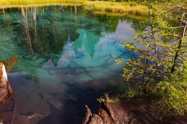 Зеленое термальное озеро