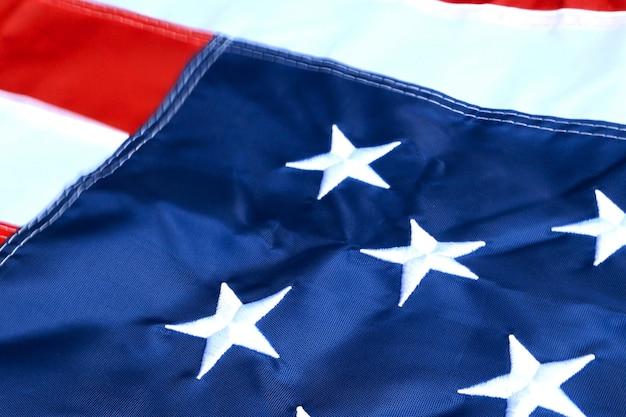 星条旗、アメリカ合衆国の旗。自由と民主主義の象徴。