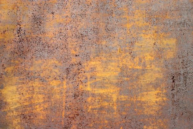 古いさびた平らな金属面