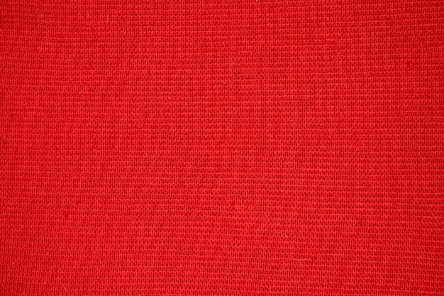 赤いウール生地の質感。