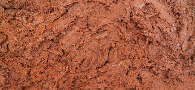 チョコレートアイスクリームの質感。