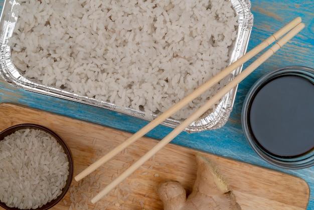 アジア料理の白米。