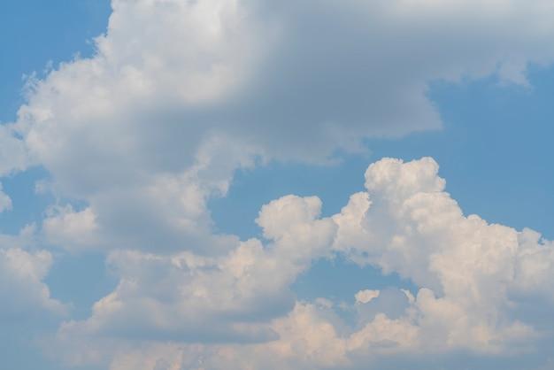 青い空に白い雲。大気現象