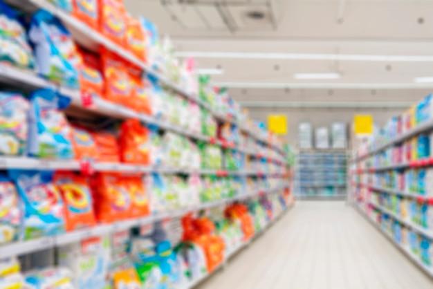 家庭用化学品の店内のインテリア