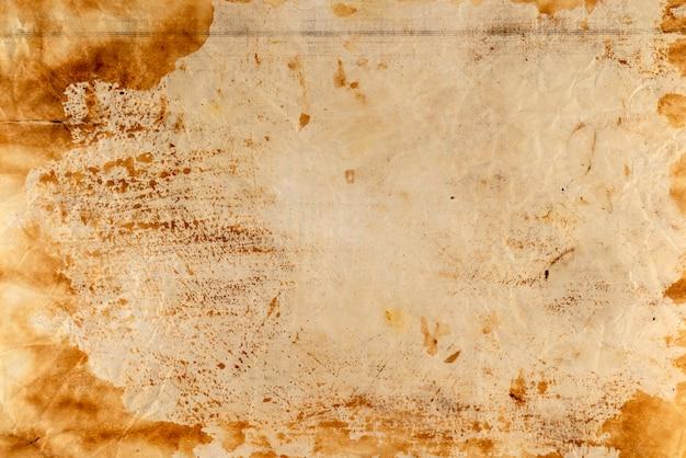 Сожгли старый лист бумаги