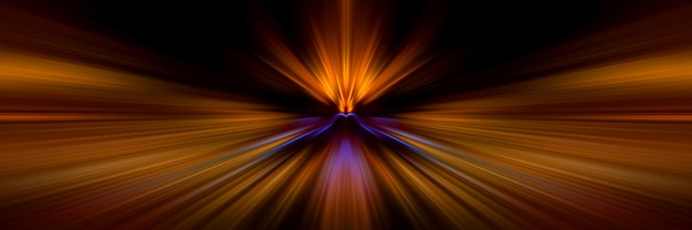 Светлые линии движения в перспективе