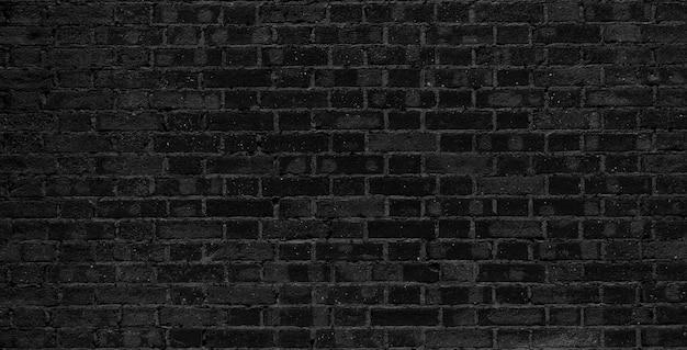 黒レンガの壁。ロフトのインテリアデザイン。正面の黒いペンキ。
