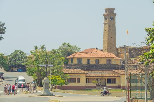 ゴールフォート。スリランカ。ゴールの要塞の通り。