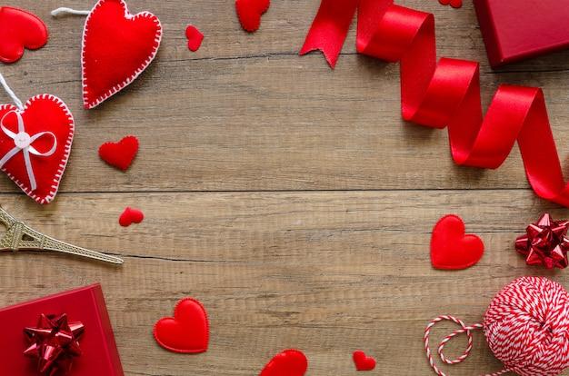 Рамка с копией пространства для поздравительной открытки на день святого валентина