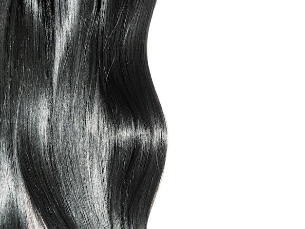 美しい滑らかなブルネットの髪の背景