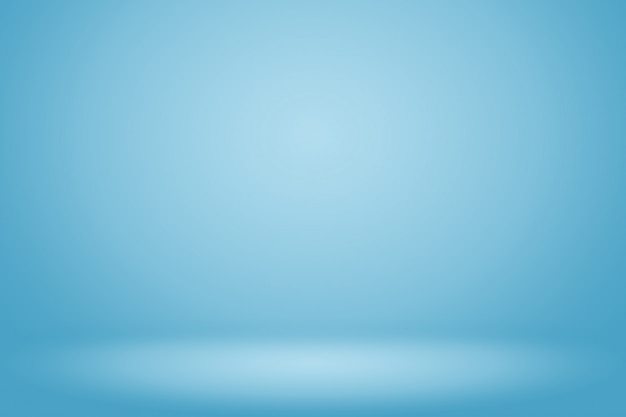テキストと画像のためのスペースと青のグラデーションの抽象的な背景の空の部屋
