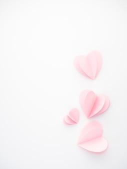 クリエイティブラブピンク紙の心