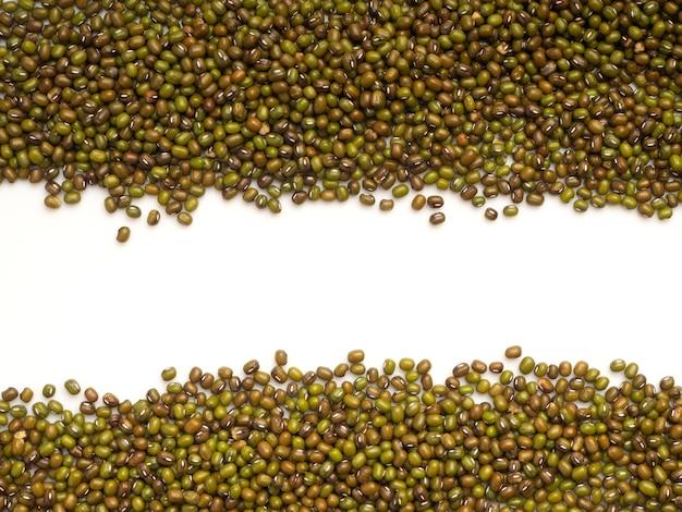 緑色の豆または緑豆の背景