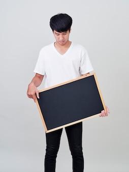 若い男持株黒板