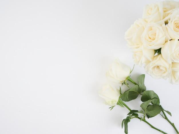 Белые розы цветы