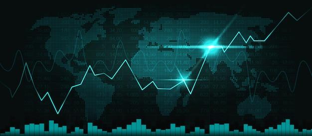 Фондовый рынок или форекс график в графической концепции