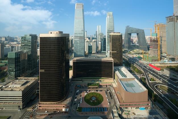 北京中央ビジネス地区、北京、中国の日中に建物の高層ビル。