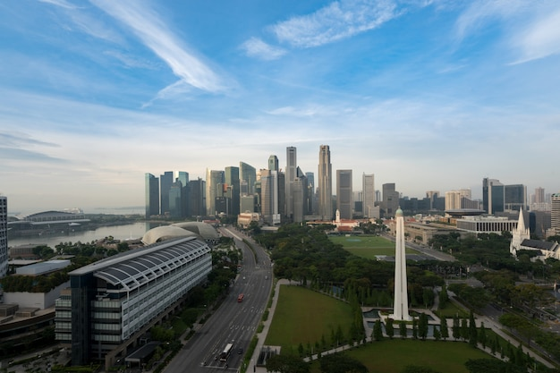 Панорама горизонта делового района сингапура