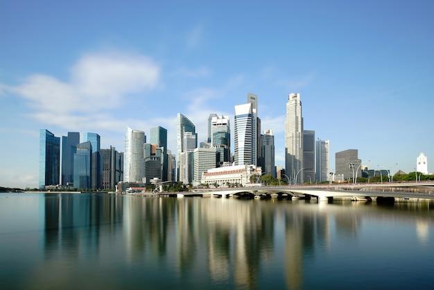 Сингапур деловой район небоскребов финансовый центр города здание