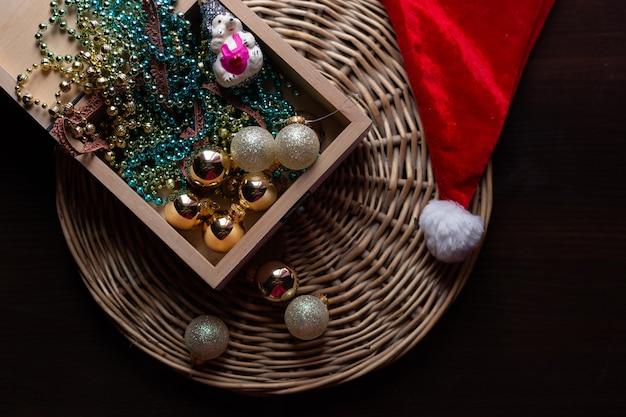 新年とクリスマスのコンセプトのある静物写真