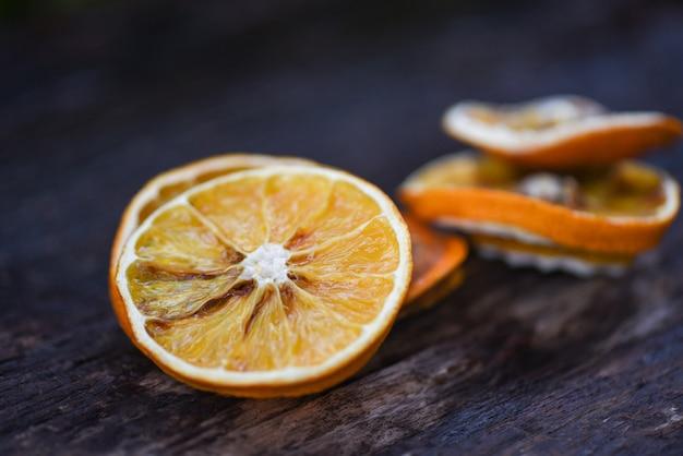 乾燥したオレンジのスライス