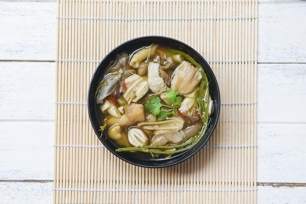 Грибная суповая тарелка