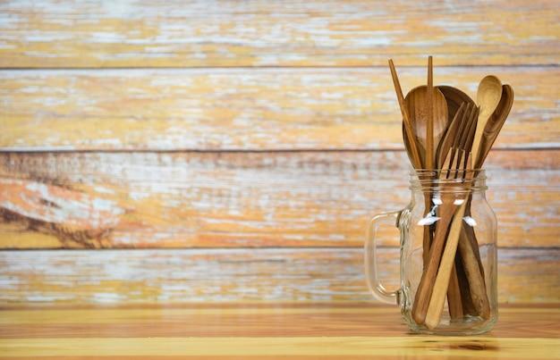 ナチュラルキッチンツール木材製品スプーンフォーク箸キッチン用品オブジェクト木製