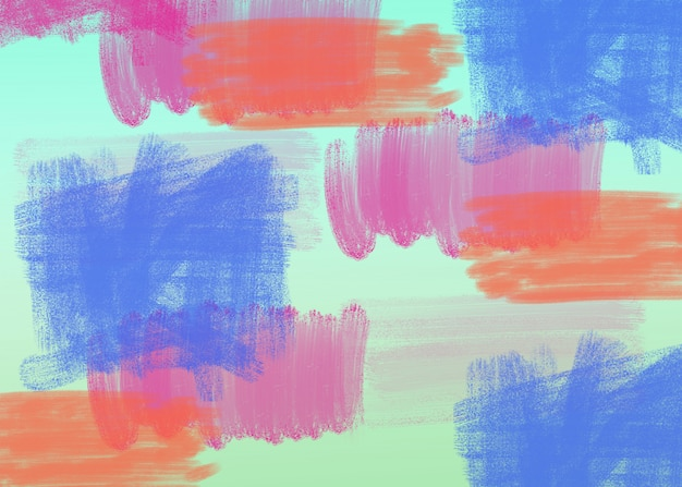 水彩ブラシ抽象絵画色テクスチャパターン。多色の水彩ブラシストローク
