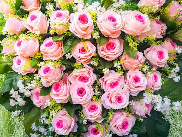フラワーブーケ花嫁の花束/ピンクの花束ピンク