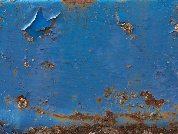 グランジ、黒の汚れとさびた鉄のテクスチャ背景