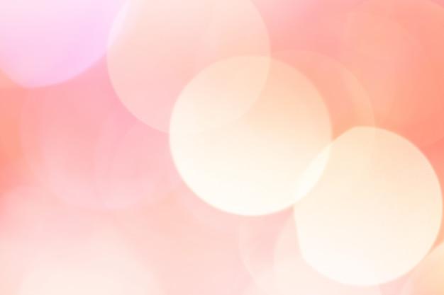 抽象的なボケライト。ピーチローズカラー。