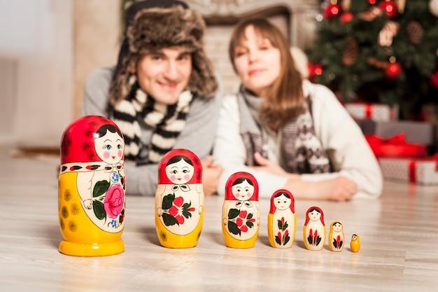ロシアのロシアの人形、ロシアのお土産