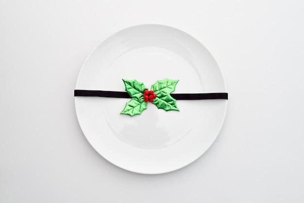 Рождественский ужин макет концепции